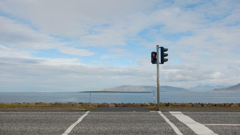 交叉路在海洋 库存照片