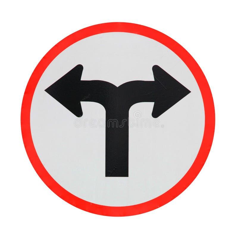 交叉路标志 库存图片