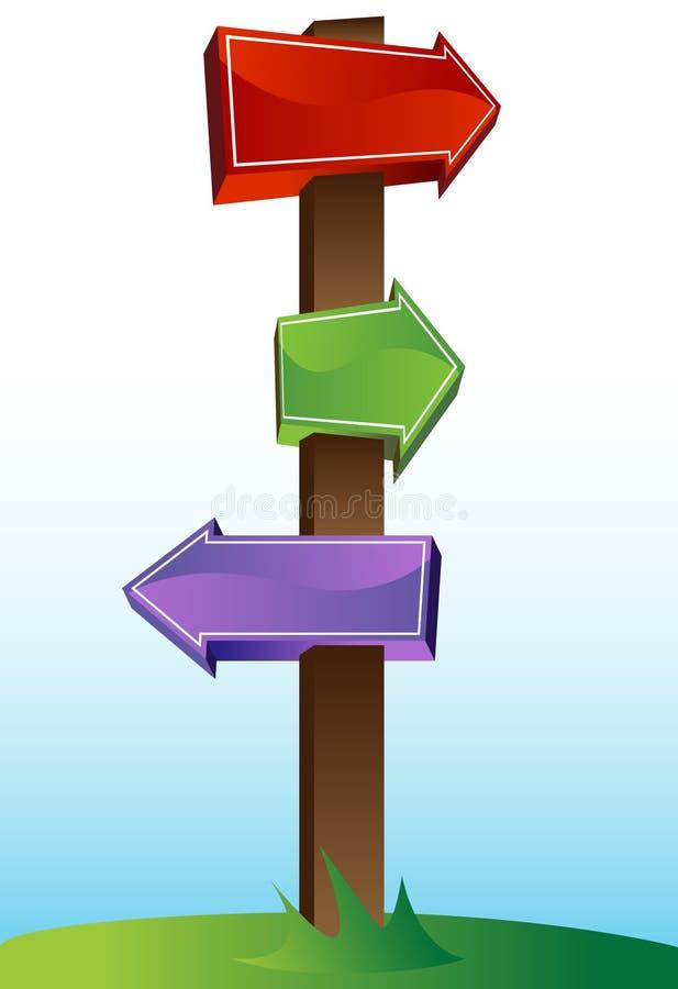 交叉路符号 向量例证