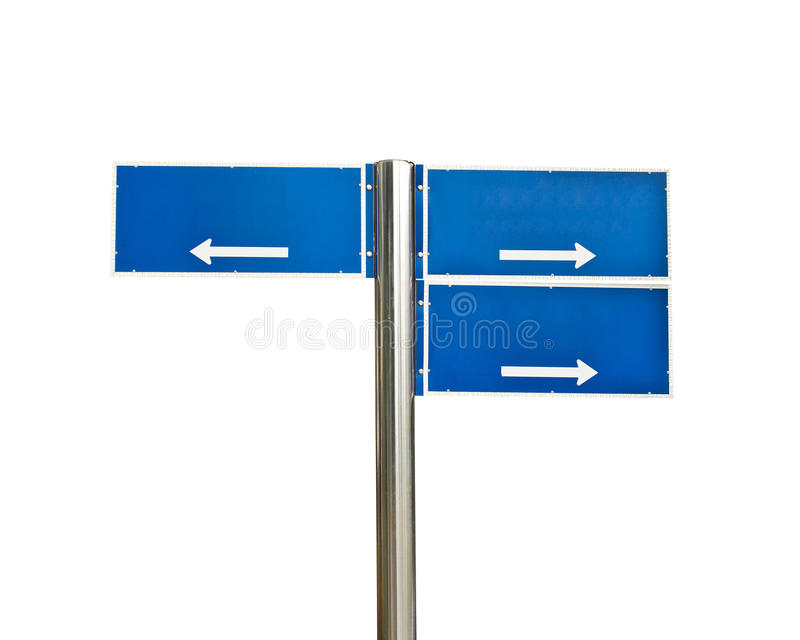 交叉路被隔绝的路标 免版税库存图片