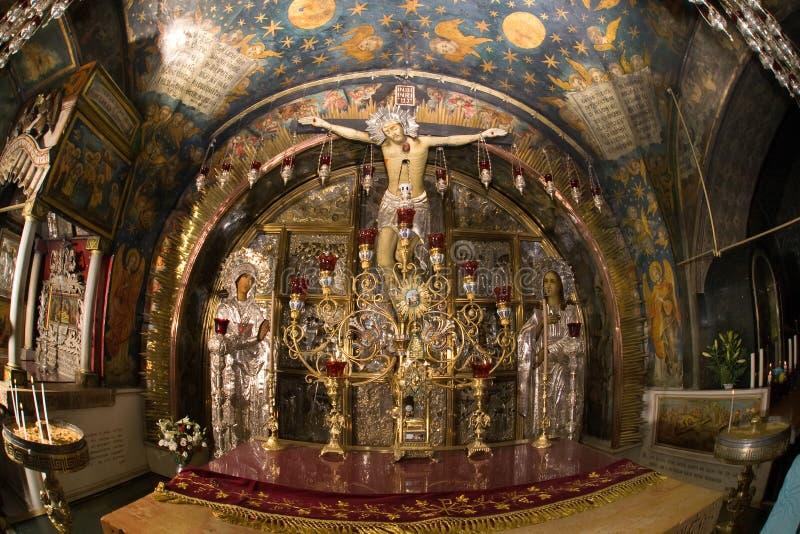 交叉golgotha耶路撒冷耶稣 免版税库存照片