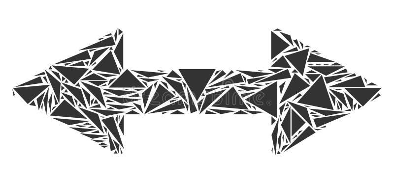 交换三角箭头马赛克  向量例证
