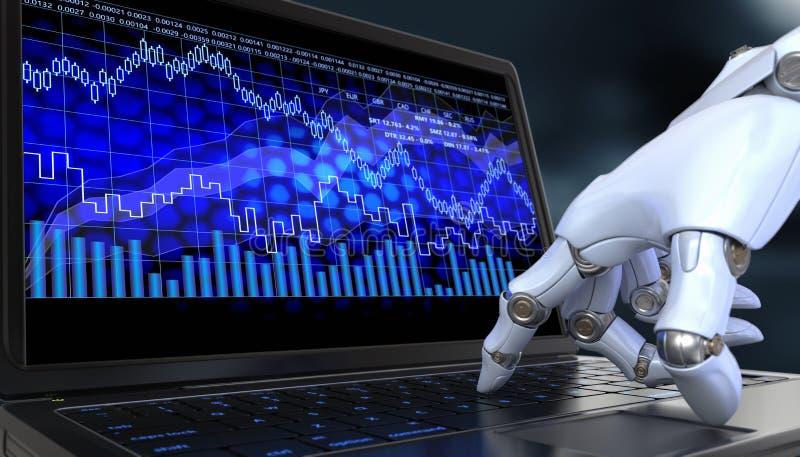 交换商业机器人 皇族释放例证