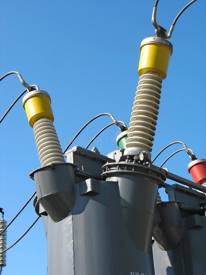 交换器详细资料高行业电压 免版税库存照片