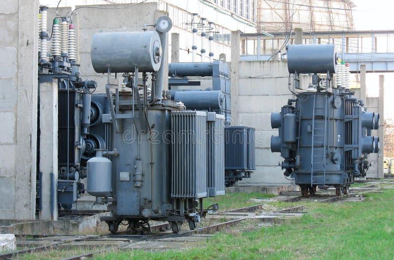 交换器高行业电压 库存照片