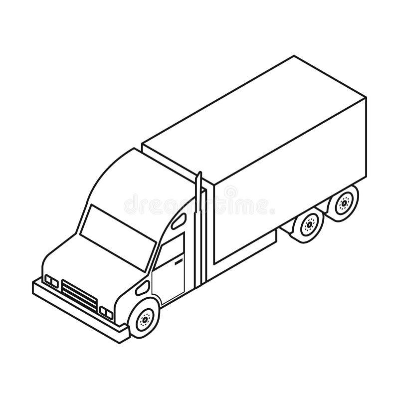 交换在白色背景在概述样式的象隔绝的 运输标志 库存例证