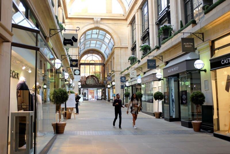交换拱廊,诺丁汉 免版税库存照片