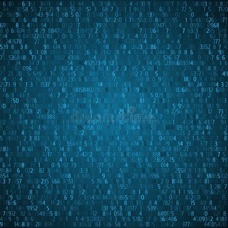 交换换蓝色背景 二进制代码 黑客概念 皇族释放例证