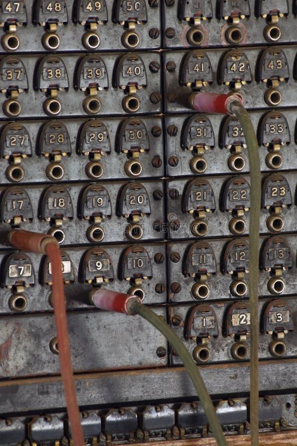 交换机板电话葡萄酒 免版税图库摄影