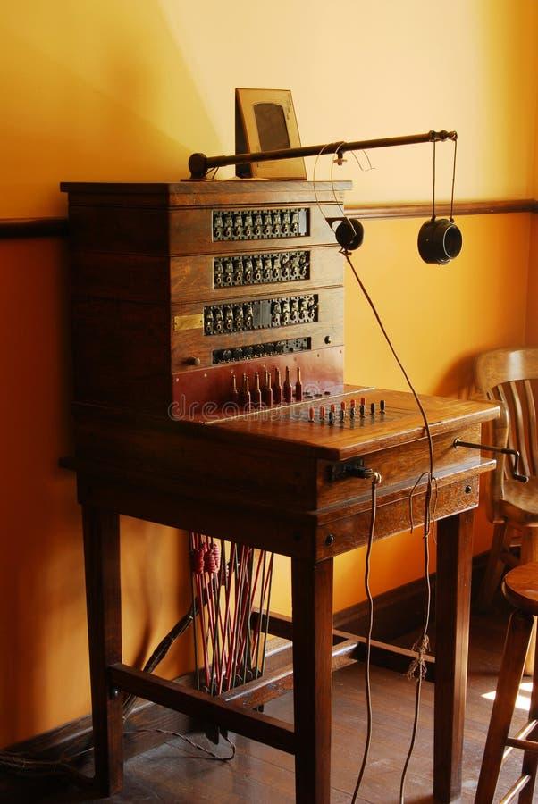 交换机板电话葡萄酒 免版税库存图片