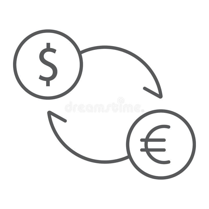交换稀薄的线象、财务和银行业务 库存例证