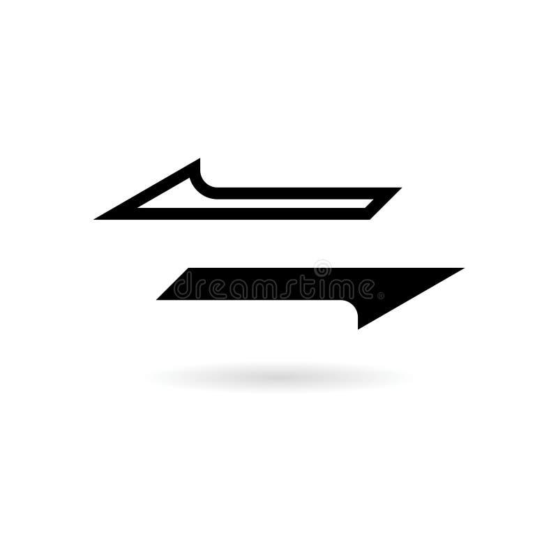 交换箭头象或商标,同步箭头 皇族释放例证