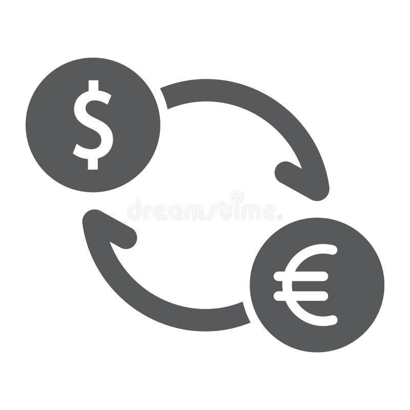 交换纵的沟纹象、财务和银行业务,货币 向量例证