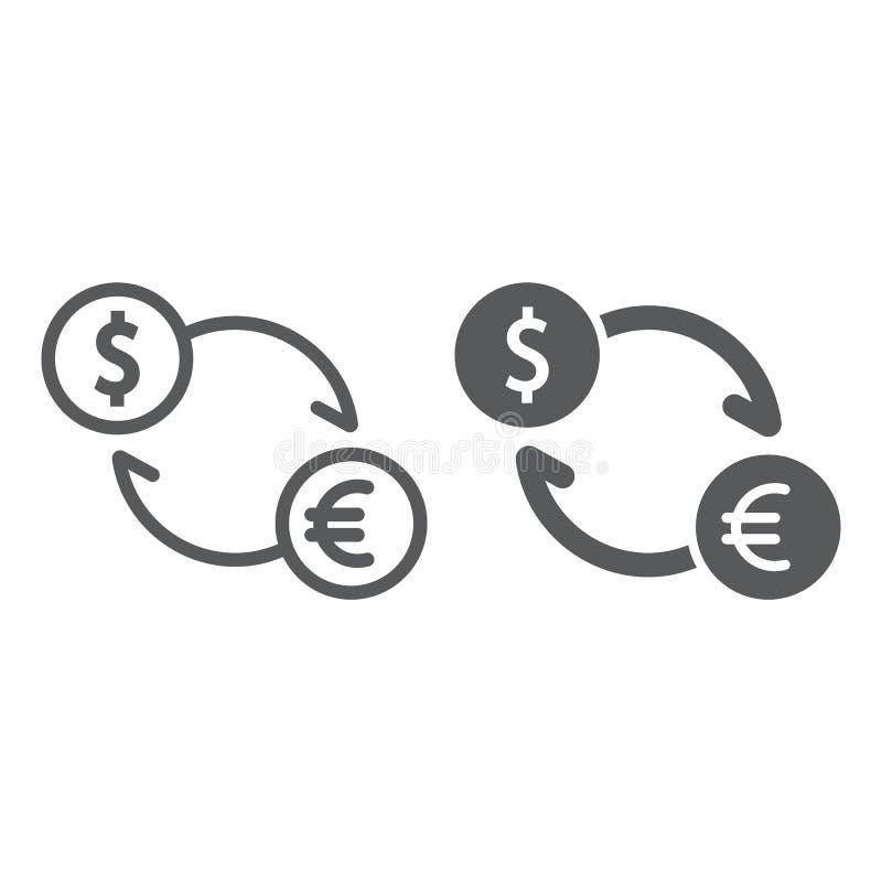 交换线和纵的沟纹象、财务和银行业务 库存例证