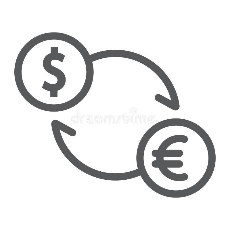 交换线象,财务和银行业务,货币 库存例证