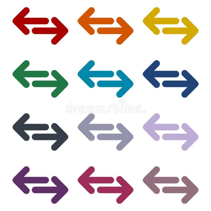 交换被设置的箭头象 向量例证