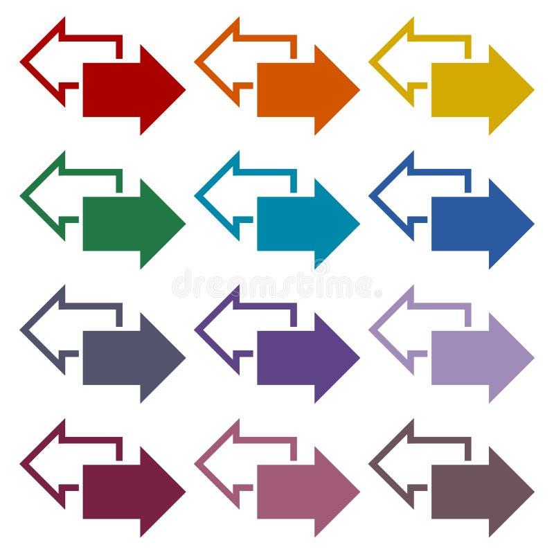 交换被设置的箭头象 库存例证