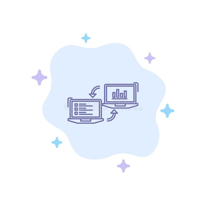 交换,事务,Completers,连接,数据,在抽象云彩背景的信息蓝色象 向量例证