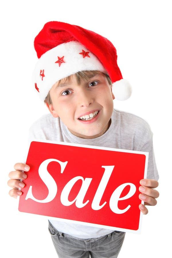 交易圣诞节销售额 免版税库存照片