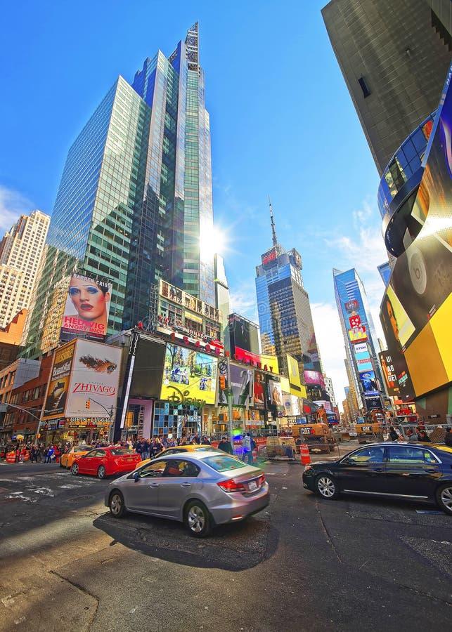 交易在百老汇和第7条大道在时代广场 库存图片
