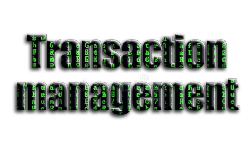 交易管理 题字有摄影的纹理,描述绿色小故障标志 免版税库存图片