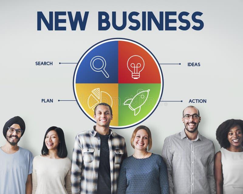 交易起步企业家战略目标概念 免版税图库摄影