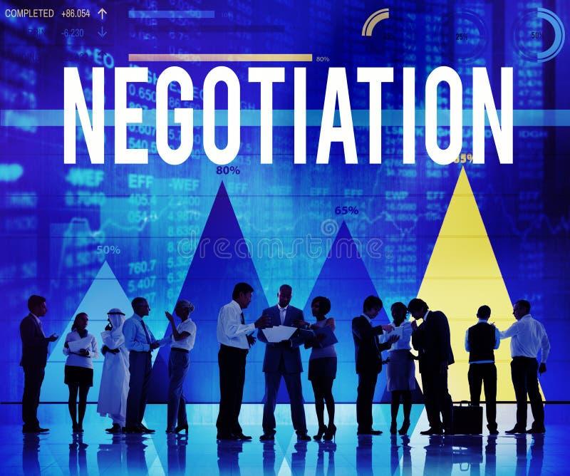 交涉妥协合同约定决定概念 免版税库存图片