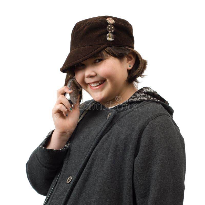 交谈电话 免版税库存图片