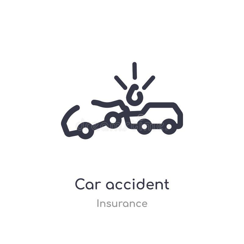 交通事故概述象 r 编辑可能的稀薄的冲程交通事故象 库存例证