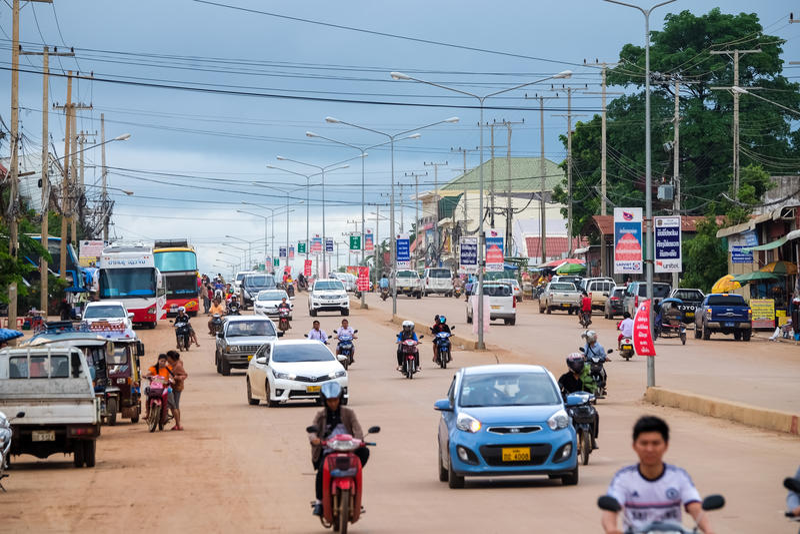 交通在印度支那 免版税库存图片