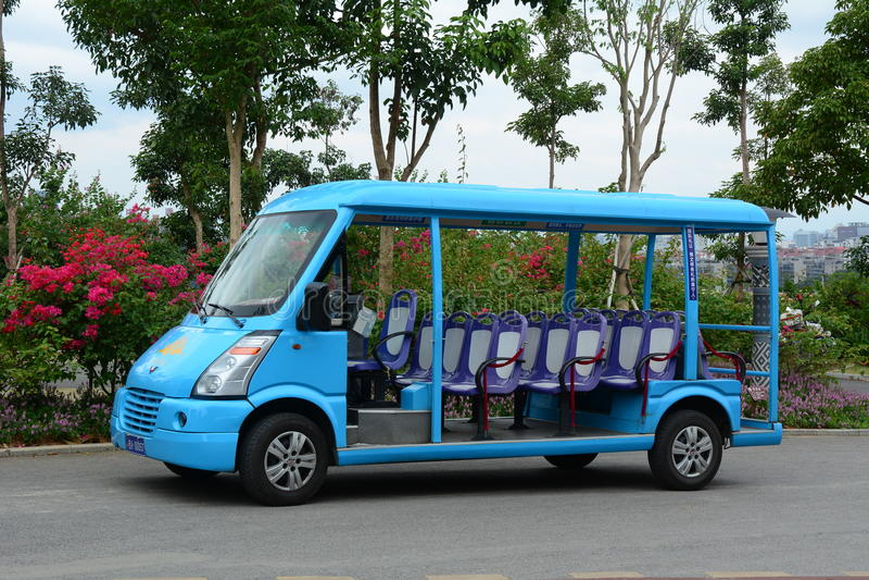 交通在广州市,中国 免版税库存照片