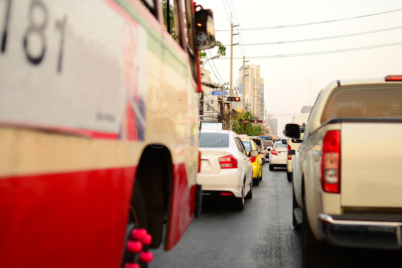 交通在曼谷 免版税库存照片