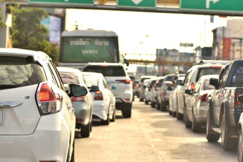 交通堵塞在Nakhonratchasima 库存图片
