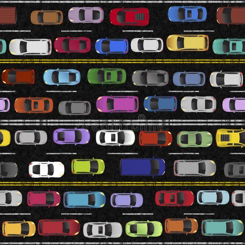 交通堵塞无缝的样式例证 库存例证