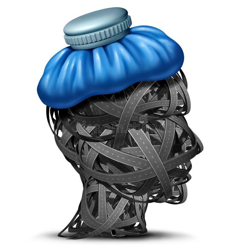 交通头疼 向量例证