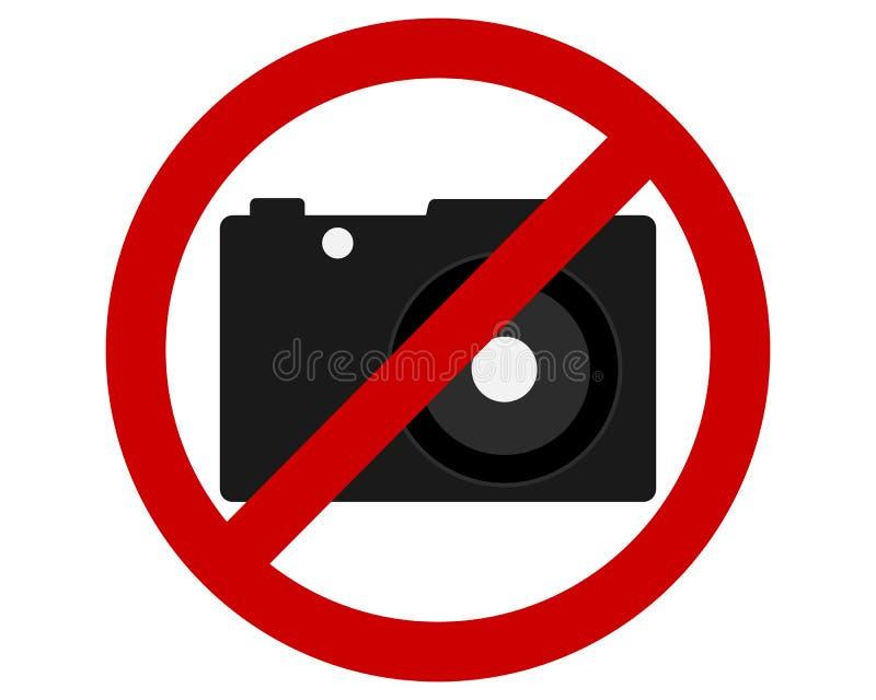 交通拍摄照片的禁止标志 向量例证
