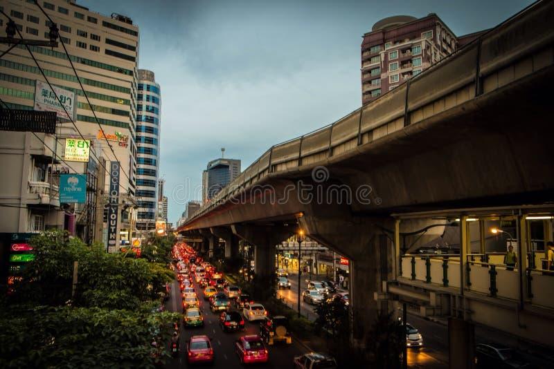 交通曼谷 库存照片