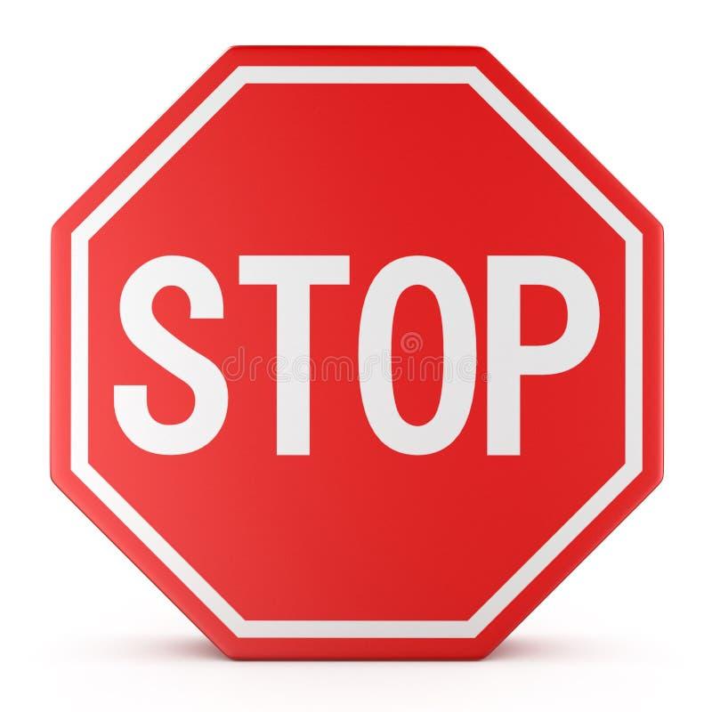 交通标志中止 向量例证