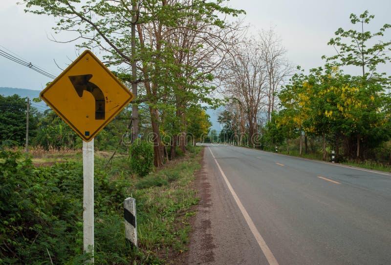 交通标志向左转 库存照片