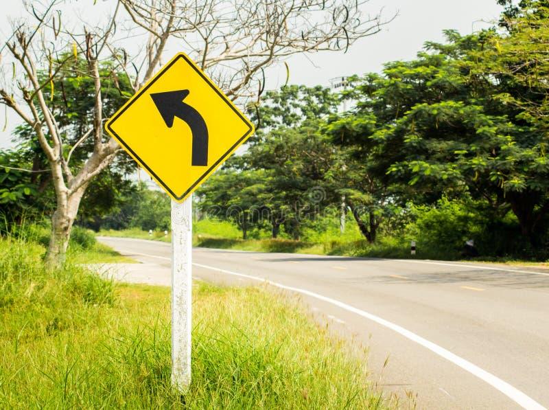 交通标志向左转 免版税库存图片