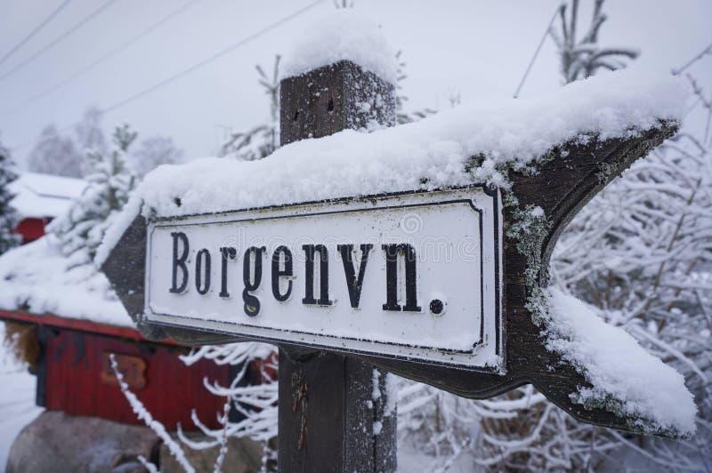 交通标志挪威 免版税库存图片