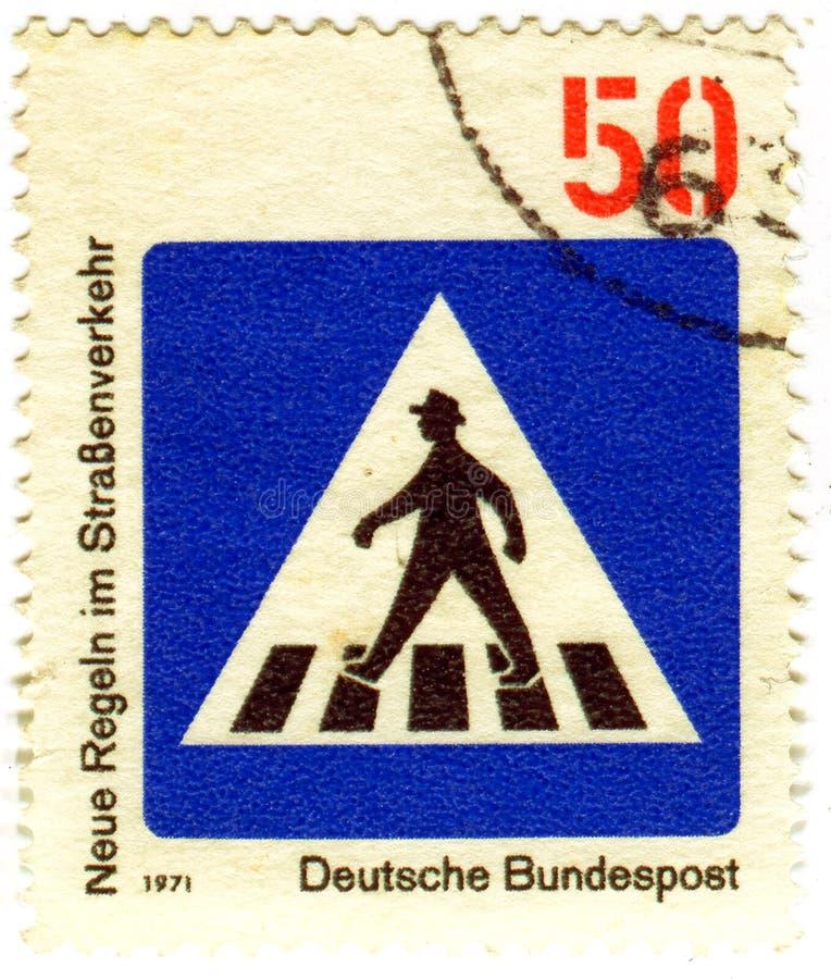 交通标志斑马线 库存照片