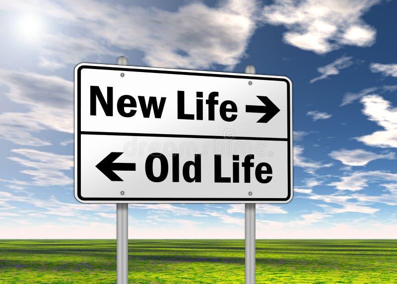 交通标志新的生活 皇族释放例证