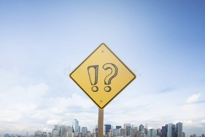 交通标志概念问号 库存照片