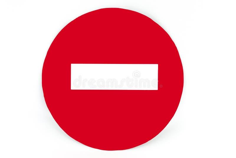 交通标志白色背景 免版税库存图片