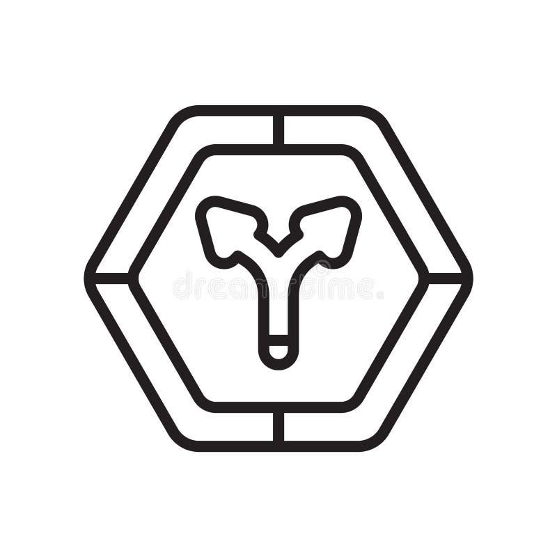 交通标志象在白色背景和标志隔绝的传染媒介标志,交通标志商标概念 向量例证