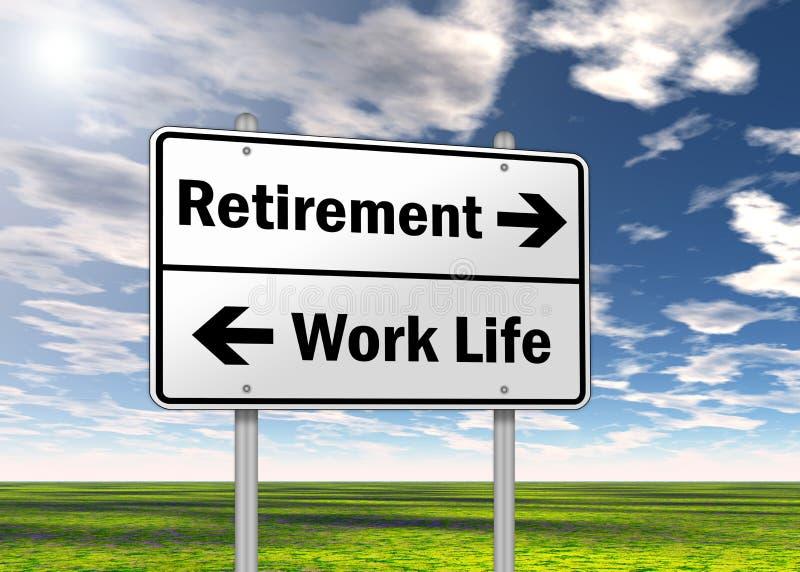 交通标志退休 向量例证