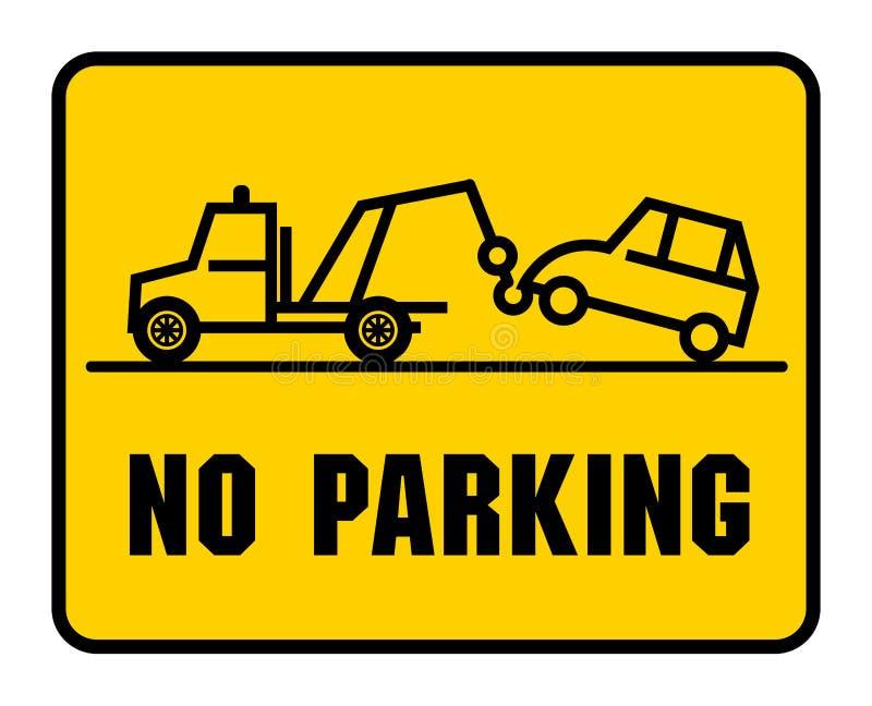 交通标志-禁止停车 皇族释放例证