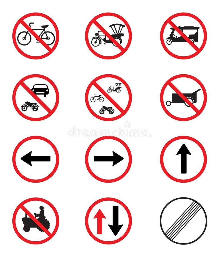 交通标志组装集合 向量例证