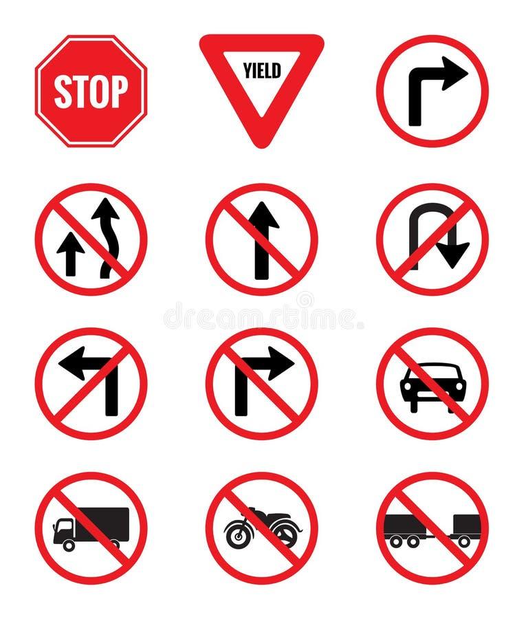 交通标志组装集合 皇族释放例证